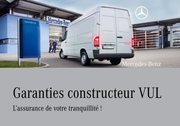 Garanties constructeur VUL - Mercedes-Benz France