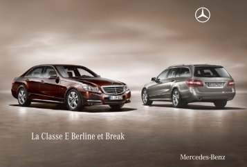 La Classe E Berline et Break - Mercedes-Benz France