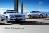 La Classe CLK Coupé & Cabriolet - Mercedes-Benz France