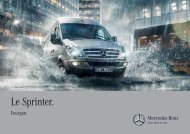 Brochure Sprinter Fourgon - Mercedes-Benz France