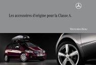 Les accessoires d'origine pour la Classe A. - Mercedes-Benz France