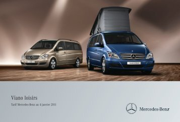Viano Loisirs Tarifs - Mercedes-Benz France