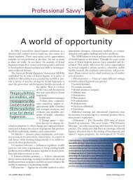 A World of Opportunity – March 2005 - Professional Savvy, LLC