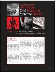 Oral Health & Systemic Disease - Professional Savvy, LLC