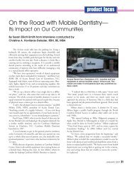 On the Road with Mobile Dentistry— - access dental care