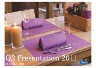 Q3 Presentation 2011