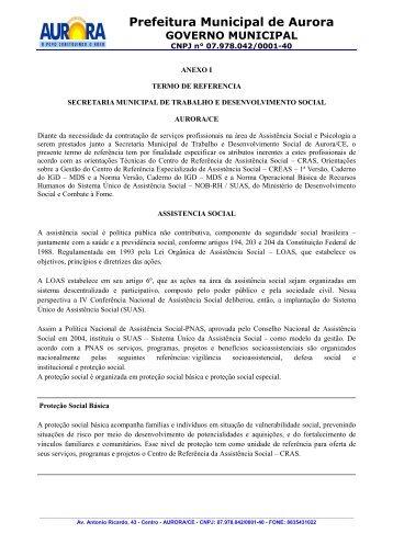 Anexo I - Termo de Referência - TCM-CE