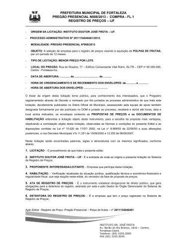 edital nº 008/2013 - TCM-CE