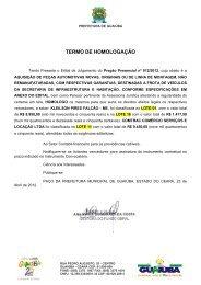 TERMO DE HOMOLOGAÇÃO - TCM-CE