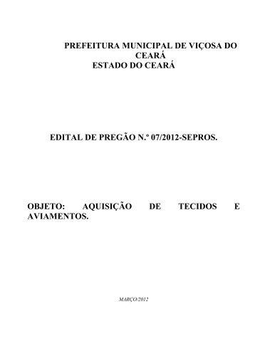 edital pp 07-2012 - sepros - aquis tecidos e aviamentos - TCM-CE