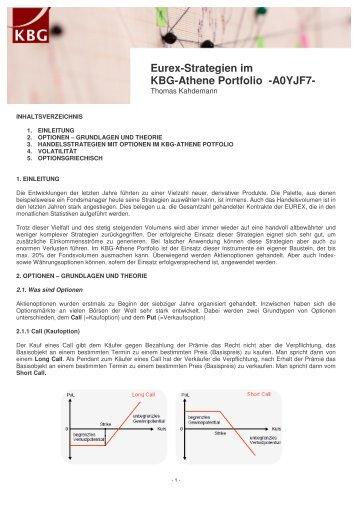 Eurex-Strategien im KBG-Athene Portfolio -A0YJF7-