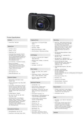Cyber-shot Digital Camera HX20 | DSC-HX20V/B | Sony ... - 1000 Ordi