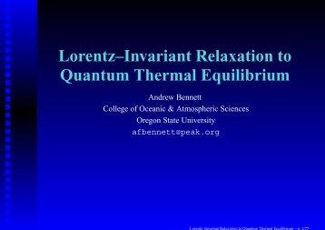 Lorentz–Invariant Relaxation to Quantum Thermal Equilibrium