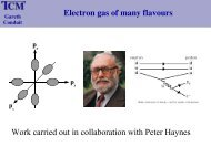 p - Theory of Condensed Matter