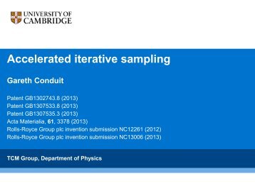 Accelerated iterative sampling