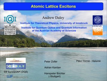Atomic Lattice Excitons - Theory of Condensed Matter
