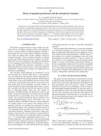 pdf © APS - Theory of Condensed Matter