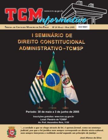 Nº 26 MARÇO - MAIO 2005 www.tcm.sp.gov.br - Tribunal de Contas ...