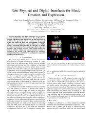 New Physical and Digital Interfaces for Music Creation and Expression