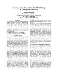 Teaching Comprehensive Real-World VLSI Design to ...