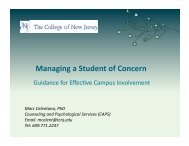 Managing a Student of Concern