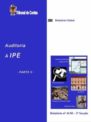 Auditoria À IPE - Tribunal de Contas