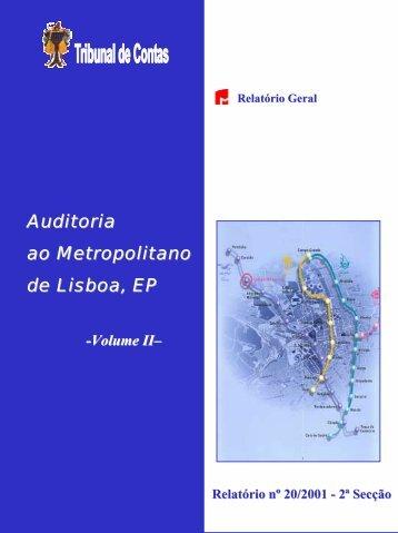 Relatório de Auditoria nº 20/2001 - 2ª Secção - Tribunal de Contas