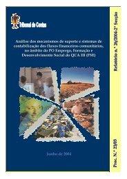 Relatório de Auditoria nº 26/2004 - 2 ª Secção - Tribunal de Contas