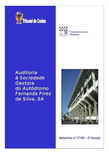 Relatório de Auditoria nº 27/2002 - 2ª Secção - Tribunal de Contas