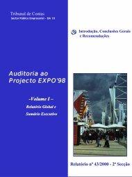 Auditoria ao Projecto EXPO'98 - Tribunal de Contas