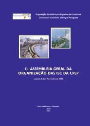 Documentação final da II Assembleia Geral da Organização das ISC ...