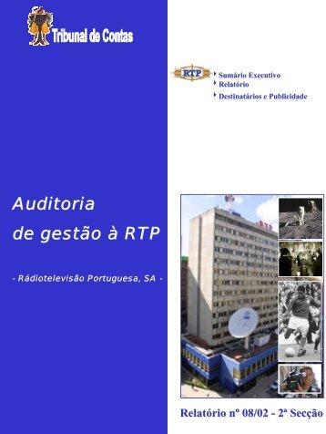 Relatório de Auditoria nº 8/2002 - Tribunal de Contas