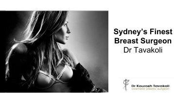 Sydney's Finest Breast Surgeon Dr Tavakoli