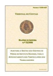 SÍNTESE DAS CONCLUSÕES E RECOMENDAÇÕES - Tribunal de ...
