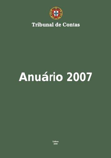 Tribunal de Contas - Anuário 2007