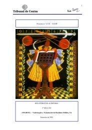 Relatório de Auditoria nº 11/2003 - 2ª Secção - Tribunal de Contas
