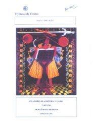 Relatório de Auditoria nº 1/2003 - Tribunal de Contas