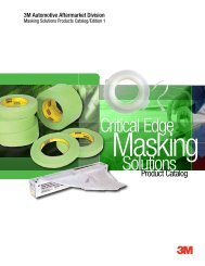 Masking Solutions Products Catalog - 3M Collision