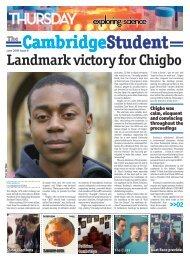 Landmark victory for Chigbo - The Cambridge Student - University of ...