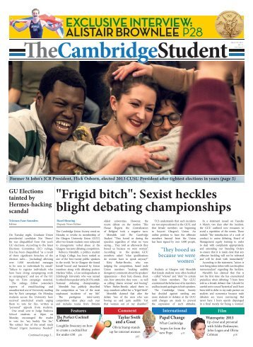 Lent Issue 8 - The Cambridge Student - University of Cambridge