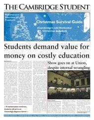 Michaelmas Issue 9 2006 - The Cambridge Student - University of ...