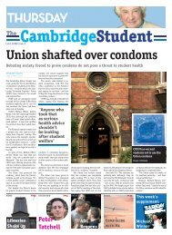 Union shafted over condoms - The Cambridge Student