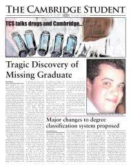 Lent Issue 1 2007 - The Cambridge Student - University of Cambridge