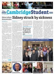 Sidney struck by sickness - The Cambridge Student