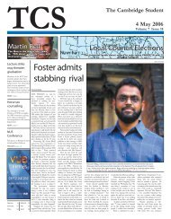 Foster admits stabbing rival - The Cambridge Student - University of ...