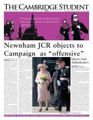 Lent Issue 4 2007 - The Cambridge Student - University of Cambridge