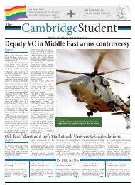 Deputy VC in Middle East arms controversy - The Cambridge ...