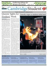 Queens' fights for Freshers' - The Cambridge Student - University of ...