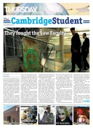 Lent Issue 3 2009 - The Cambridge Student - University of Cambridge