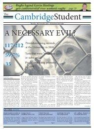 Michaelmas Issue 8 2010 - The Cambridge Student - University of ...